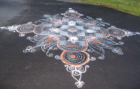 Traditional Padi Kolam